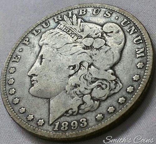 1893 Morgan Dollar ~ VG