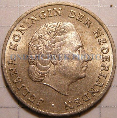 1963 Netherlands Antilles Silver Gulden KM# 2 CHAU