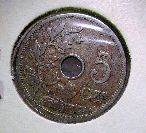 """Belgium 1905 5 Centimes """"A. MICHAUX"""""""
