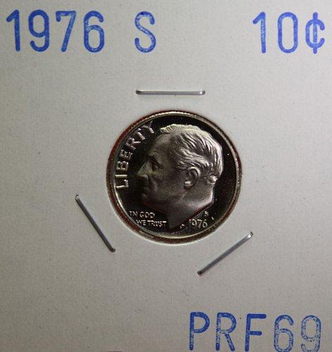 1976 S Roosevelt Dime