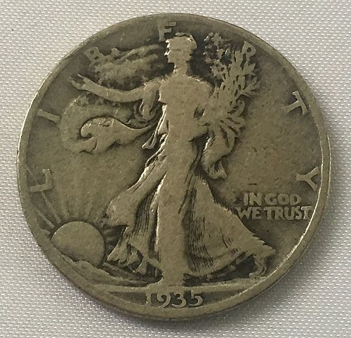 1935 S Walking Liberty Half Dollar