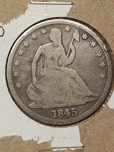 1845-O Seated Liberty Half