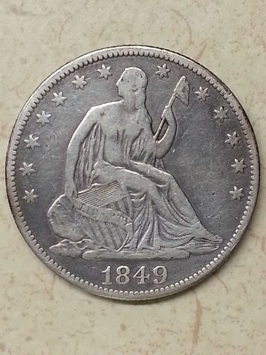 1849 Seated Liberty Half