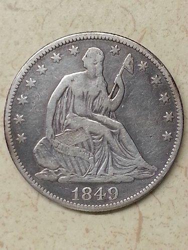 1849 Seated Liberty Half