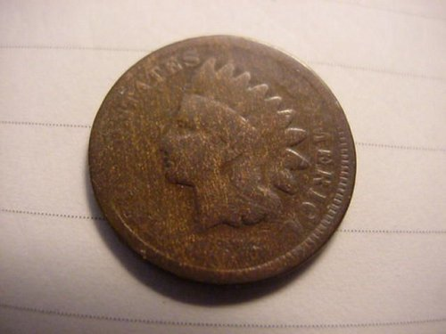 1876 indian penny ag/g