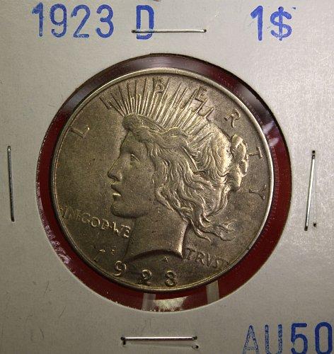 1923 D Peace $1