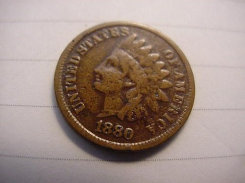 2-indians 1880 and 1883 pennys