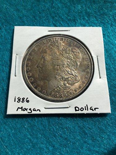 1886 Morgan Silver Dollar - 90% Silver US Coins - Free Shipping