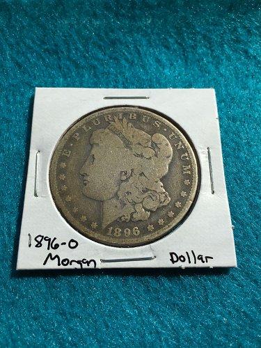 1896-O Morgan Silver Dollar 90% Silver U.S. Coin - Free Shipping!