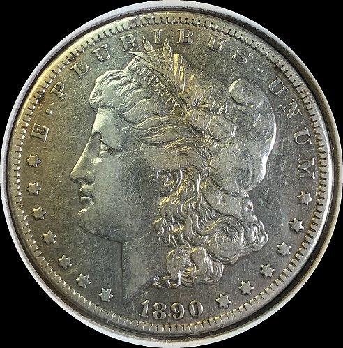 1890-CC Morgan Silver Dollar 90% Silver U.S. Coin - Carson City - Free Shipping!