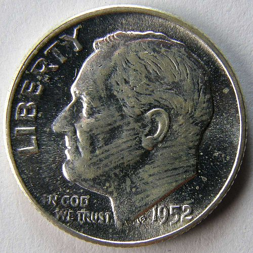 1952 P Roosevelt Dime