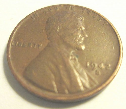 1942 D Lincoln Wheat Cent Small