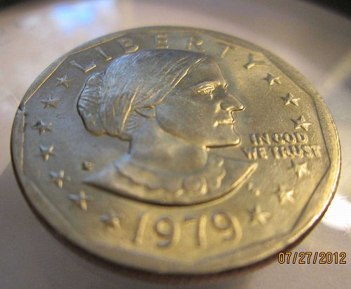 Lot of Six Dollar Coins: Susan B Anthony P/D and Sacagawea P/D