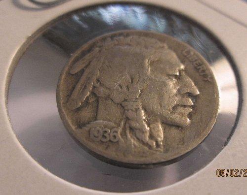1936-S&D Buffalo/Indian Head Nickels