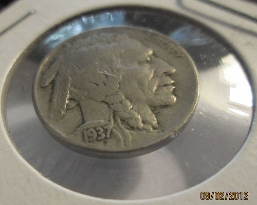 1937 & 1934 Buffalo/Indian Head Nickels No Mintmarks