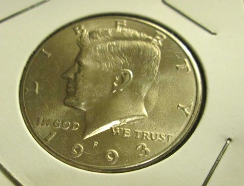 1992-P and 1993-P Uncirculated John F Kennedy Half Dollars