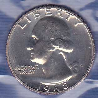 1968 S Washington Quarter
