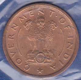 India 1 Pice 1952B