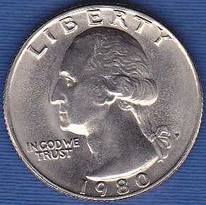 1980 P Washington Quarter