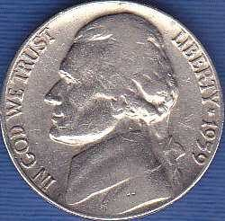 1959 P Jefferson Nickel
