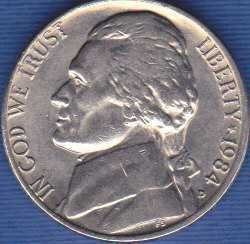 1984 D Jefferson Nickel