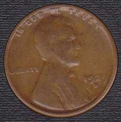 1929 S Lincoln Wheat Cent Small Cent