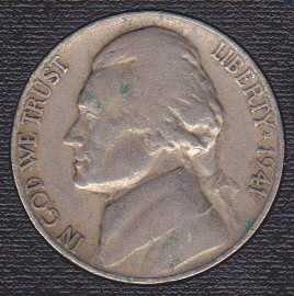 1941 D Jefferson Nickel