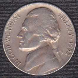 1952 P Jefferson Nickel