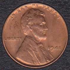 1941 P Lincoln Wheat Cent