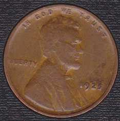 1925 P Lincoln Wheat Cent