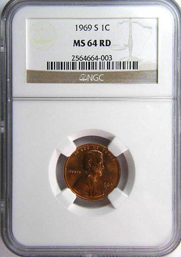 1969 S Lincoln Memorial Cent Business Strike