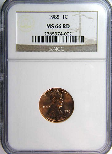 1985 P Lincoln Memorial Cent MS 66 Red