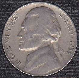 1951 P Jefferson Nickel