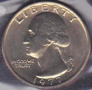 1977 P Washington Quarter / From mint set