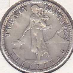 Philippines 20 Centavos 1929