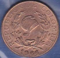 Colombia 1 Centavo 1966
