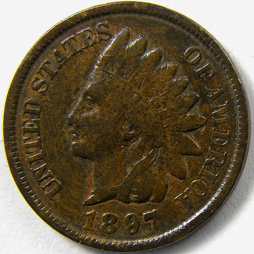 1897 P Indian Head Cent #4