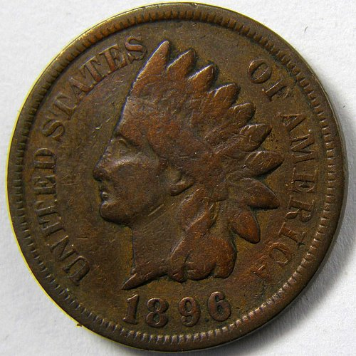 1896 P Indian Head Cent #4