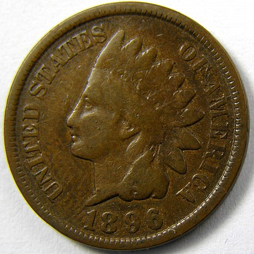 1896 P Indian Head Cent #5