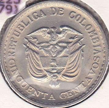 Colombia 50 Centavos 1965