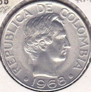 Colombia 50 Centavos 1968