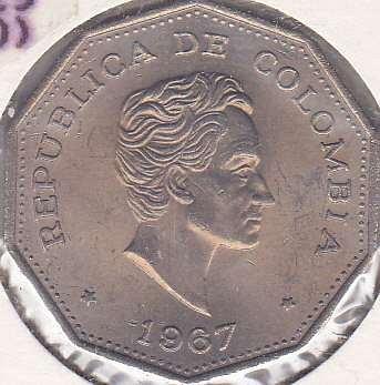 Colombia 1 Peso 1967