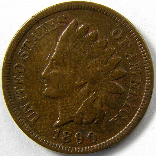 1890 P Indian Head Cent #5