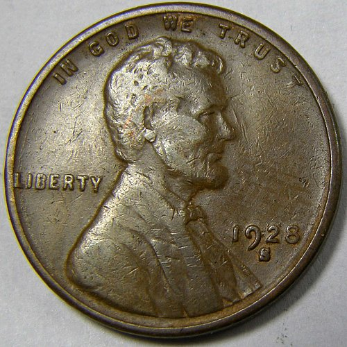 "1928 S Lincoln Wheat Cent #2  LARGE ""S"""