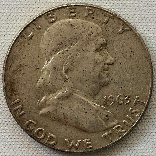 1963 D Franklin Half Dollar - Toned