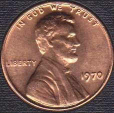 1970 P Lincoln Memorial Cent