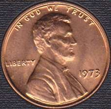 1973 P Lincoln Memorial Cent