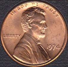 1974 P Lincoln Memorial Cent