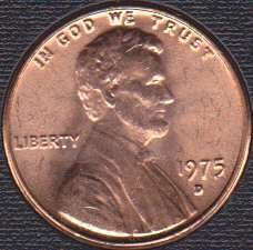 1975 D Lincoln Memorial Cent