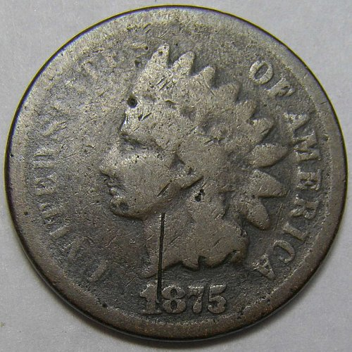 1875 P Indian Head Cent #5